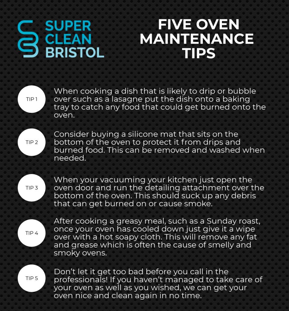 5 OVEN MAINTENECE TIPS